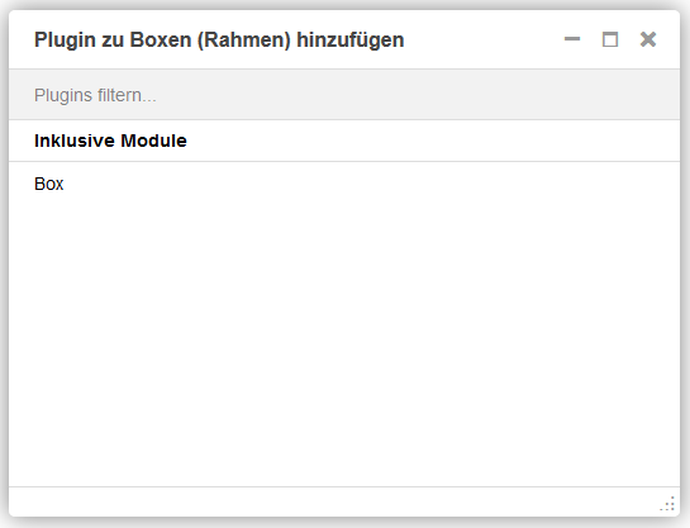 Screenshot Backend Rahmenmodul